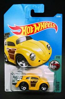 Volkswagen Beetle Fusca Amarelo Hot Wheels 2017 Novo 1/64 R5