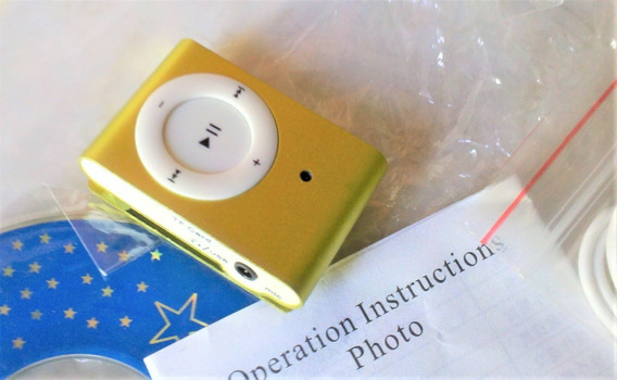 Reproductor Mp3 Shuffle Clip Audifono + Cable Usb Nuevo