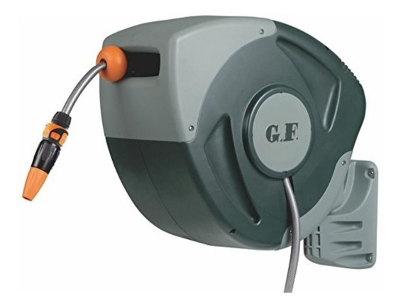 Enrolador Automático Mangueira C/30 M C/ Esguicho Engate 3/4