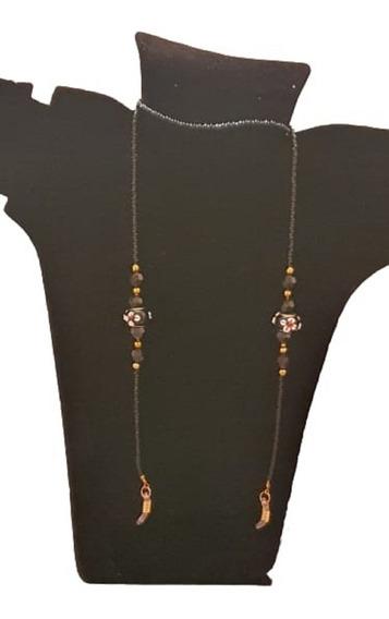 Cordão Prende Salva Óculos Corrente Luxo Pedra Original Cady