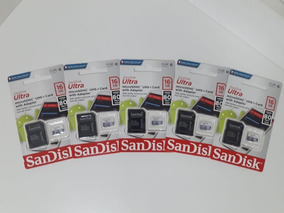 Kit 5 Mem Micro Sd 16gb Ultra C10/sdsquns-016g-gn3ma 80mb/s