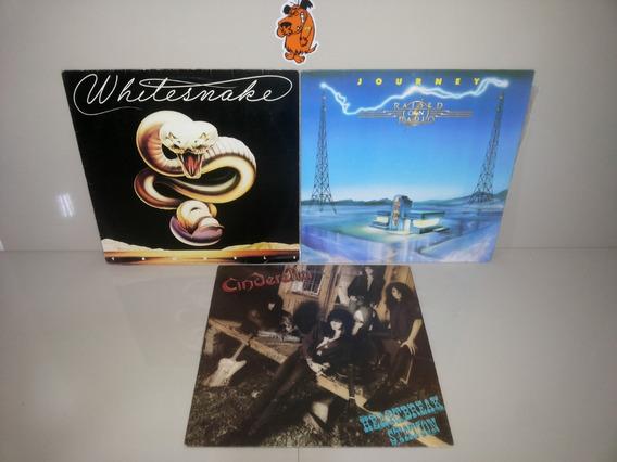 Lp Vinil Whitesnake Cinderella Journey - Lote 3 Discos