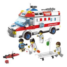 Ambulância Médicos Socorristas Brinquedo De Montar Heróis