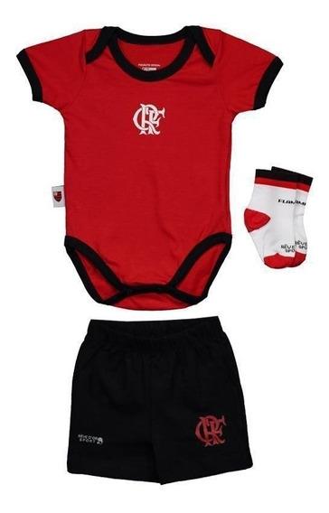 Kit Body Flamengo Vermelho E Preto