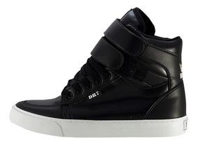 Tênis Sneaker Bota Mad Bull Dr7 Staff Laminado Preto Branco