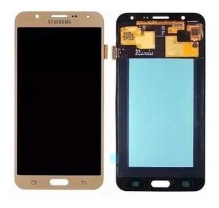 Touch Celular Samsung J 700 Dourado C Pelicula Original