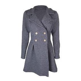 e229a385e7 Sobretudo Feminino Casaco Napole O Cinza Inverno - Calçados