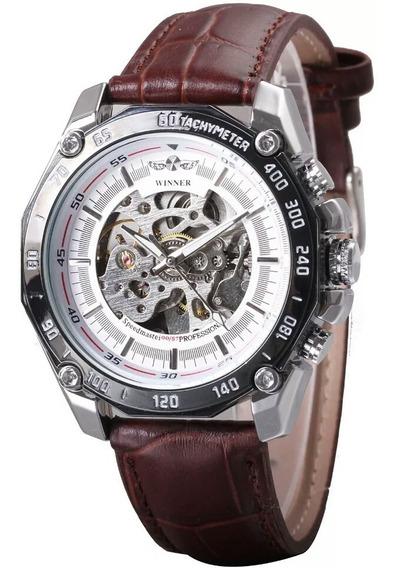 Relógio Winner, Automático E A Corda, Masculino Modelo 447