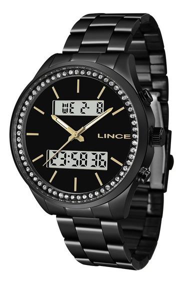 Relógio Feminino Lince Orient Black Original - Lan4591 P1px