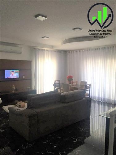 Linda Sobreposta Alta Com 4 Dormitórios À Venda, 225 M² - Embaré - Santos - 43