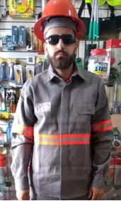 Camisa Eletricista Retardante Chamas Nr10 Refletiva Laranja