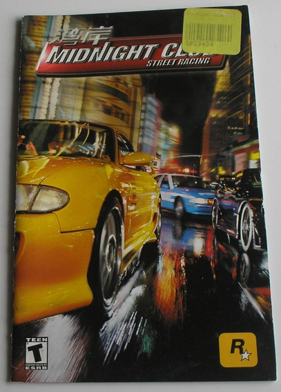 Manual Original Do Jogo Midnight Club Street Racing Ps2 Orig
