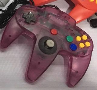 Control Alambrico Para Nintendo 64 N64 Nuevo Traslúcido