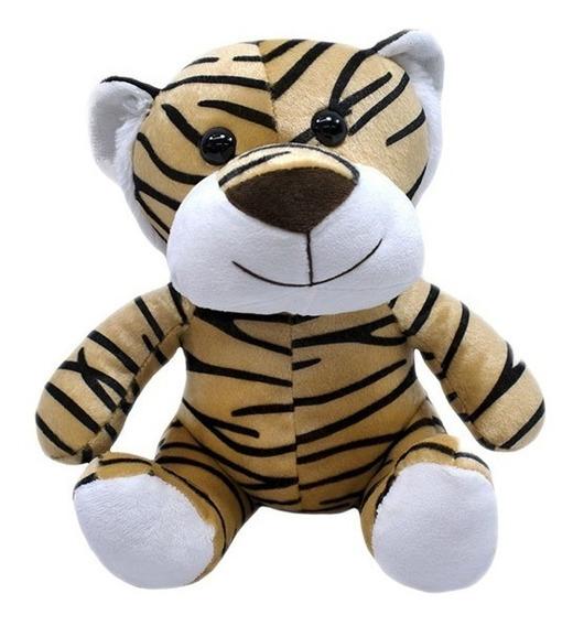 Tigre De Pelúcia 28cm Sentado - Safari - Lindo!!!