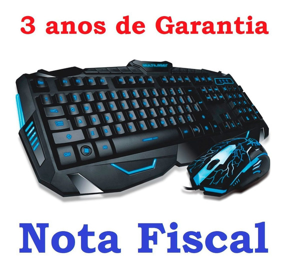 Teclado E Mouse Gamer Lightning 3 Cores Multilaser Tc195