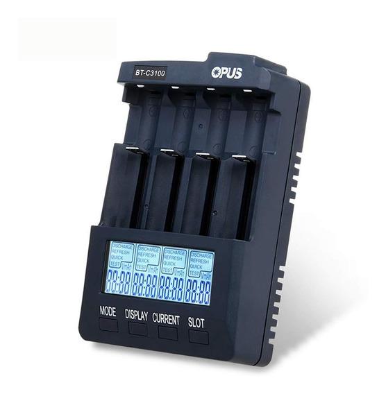 Carregador De Pilhas Inteligente Opus Bt-c3100
