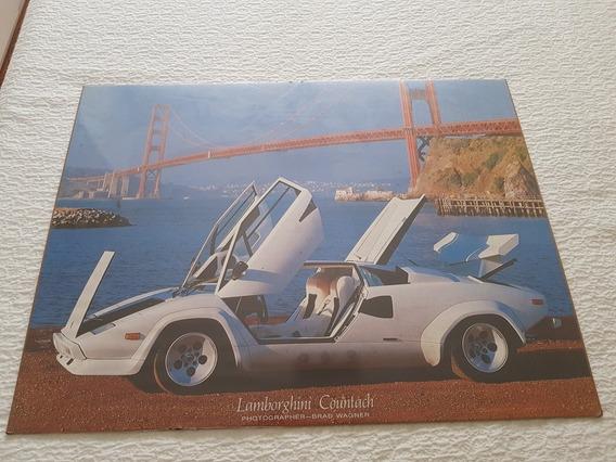 Cuadro Poster Lámina Lamborghini Countach Foto Brad Wagner