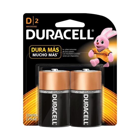 Pila Duracell Alcalina D C/2 1.5v Mn1300b2