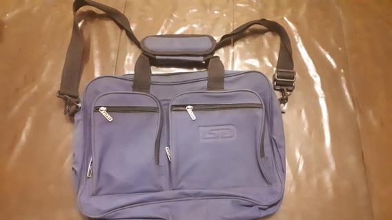 Bolso Portafolios Ls&d Lsd Lsyd Notebook Sin Uso Azul Morral