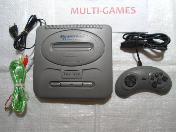 Mega Drive 3 Com 71 Jogos