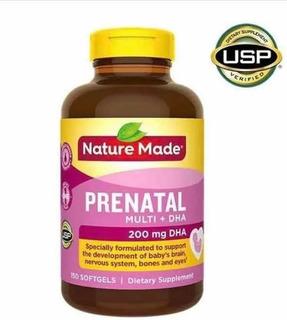 Prenatal Dha Nature Made 200 Mg 150 Capsulas-novo-imp.