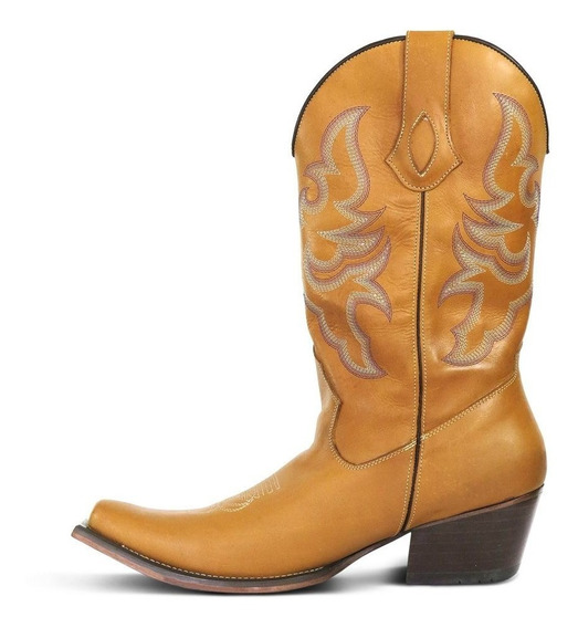 Bota Country Texana Bq Couro Fóssil Masculina Silverado Most