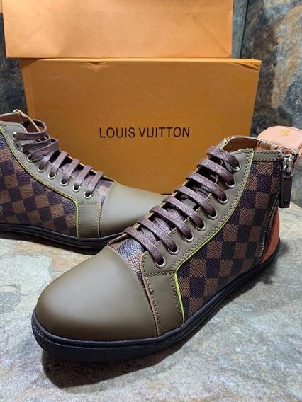 Sneakers Louis Vuitton Damier High Top, Envío Gratis
