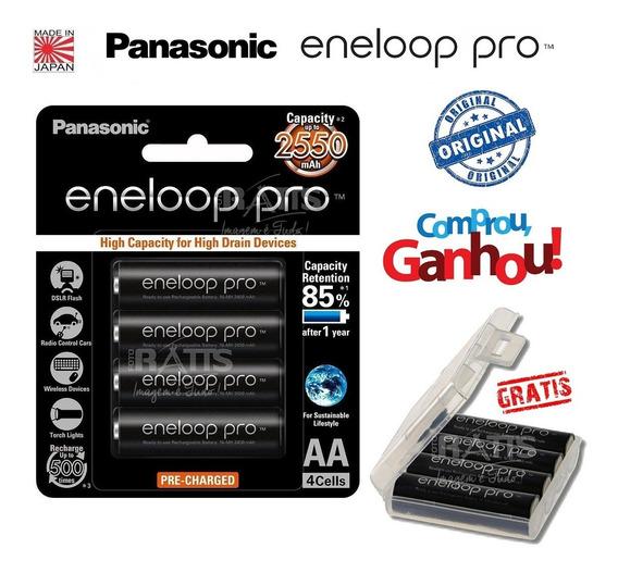 Pilha Eneloop Panasonic Pro Recarregável Aa 2550 Original