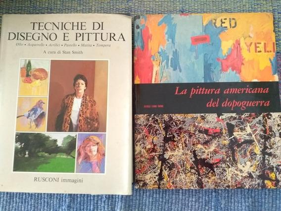 2 Livros Importados Técnicas De Pintura E Desenho Italianos