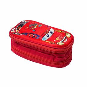 Estojo Porta Lápis Carros Kars Kids Alto Relevo Vermelho