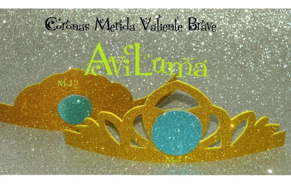 Souvenir Corona Tiara Vincha Princesas Disney Merida Aviluma