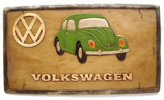Placa Fusca Vintage