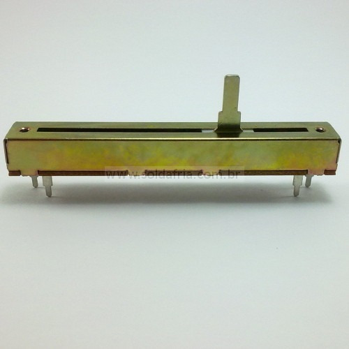 Potenciômetro Desl 100kb Sl60v 15mm Perc 60mm Kit C/5 Peças