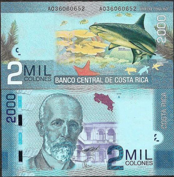 Costa Rica 2 Mil (2000) Colones 2009 P-275 Fe
