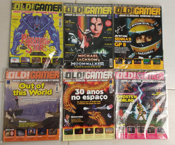 Revista Old! Gamer - Coleção Completa Com Pôsters