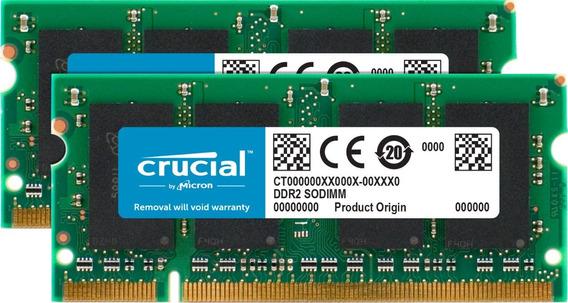 Crucial 2 Gb Kit (1gbx2) Ddr2 667 Mhz (pc2 5300) Cl5 Módul