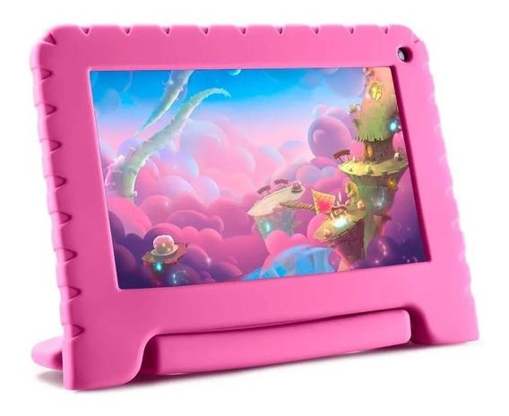 Tablet Educativo Para Criança Capa De Borracha Garantia 1ano