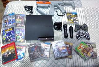 Playstation 3 Slim, 14 Juegos Físicos, 1 Juego Digital.