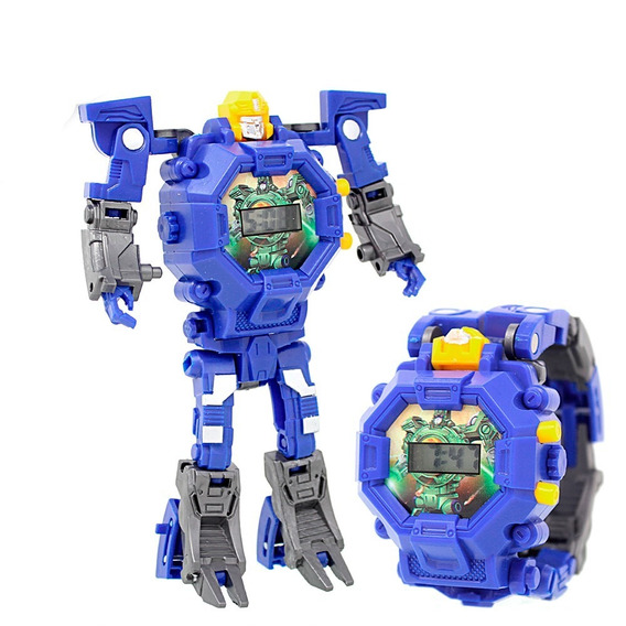 Reloj Digital Infantil Transformer Robot Zeta Niños Azul