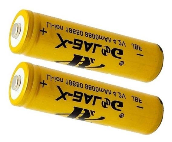 2x Bateria Recarregável 18650 4.2v 8800mah Li-ion Lítio