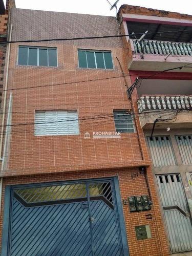 Sobrado Com 7 Dormitórios À Venda, 380 M² Por R$ 450.000,00 - Recanto Campo Belo - São Paulo/sp - So3289
