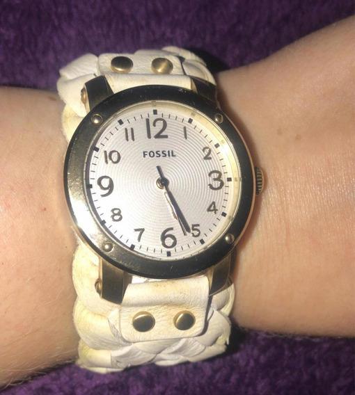 Relógio Feminino De Pulso Fóssil, Pulseira Em Couro
