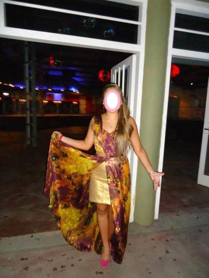 Vestido De Fiesta, Gaza Importada, Diseño: Vanina Muratore