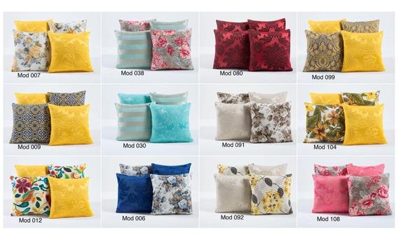 Kit Capas Para Almofadas Decorativa Amarela Com 4 Peçs 45x45