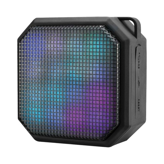 Caixa De Som Mini Led Square Bluetooth/aux/sd 10w Sp286 (mul