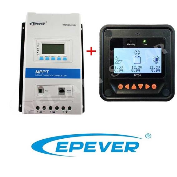Controlador Carga Mppt 40a 12/24v Epsolar + Medidor Mt-50