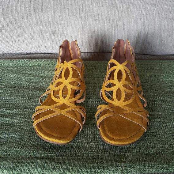 Sandália Rasteirinha Verano Usada N. 37