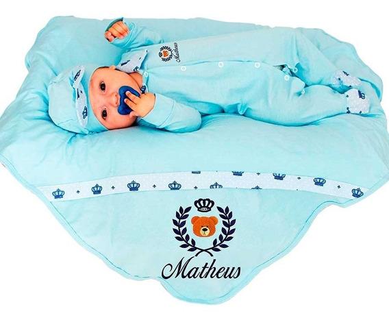Kit Saída Maternidade Urso Príncipe Personalizável
