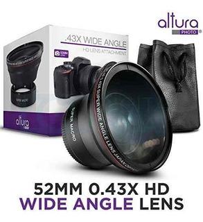 Lente 52mm Gran Angular Y Macro 0.45x Nikon Canon