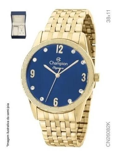 Kit Champion Elegance - Relógio E Semijóia - Cn26082k